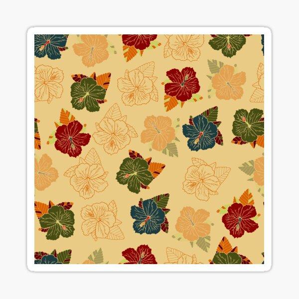 Hibiscus retro Sticker