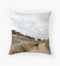 Falling in line Throw Pillow