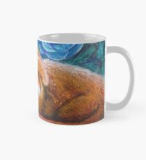 Crisp Summer Morning:  Blue Roses, Fox, Monarch Butterflies Mug