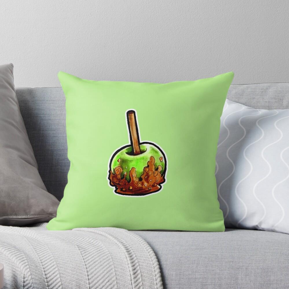 Poison Apple Throw Pillow