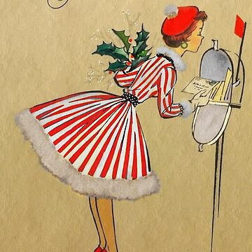 Christmas Woman at the Mailbox by dianegaddis