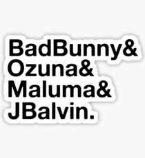 Latino Music Artists Sticker