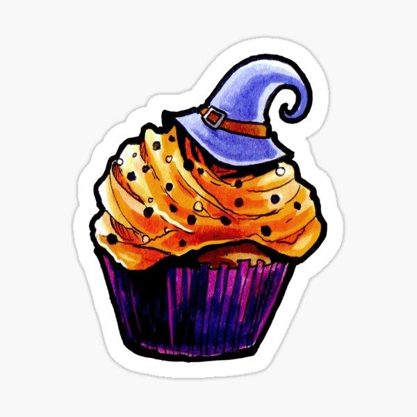 Pumpkin Cupcake Sticker