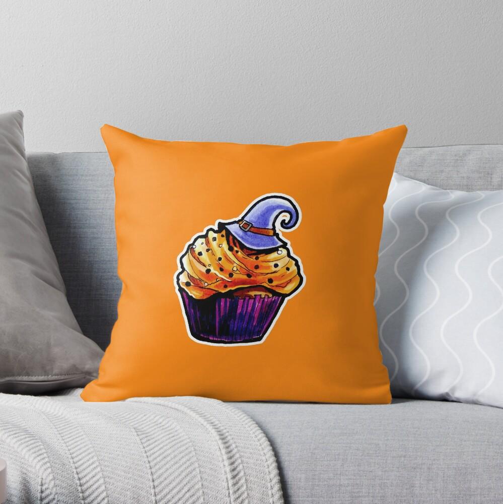 Pumpkin Cupcake Throw Pillow