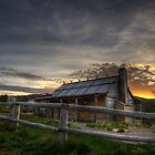 Craig's Hut at Sunset by Heather Prince