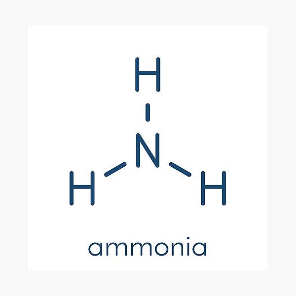 Ammonia (NH3) molecule Photographic Print