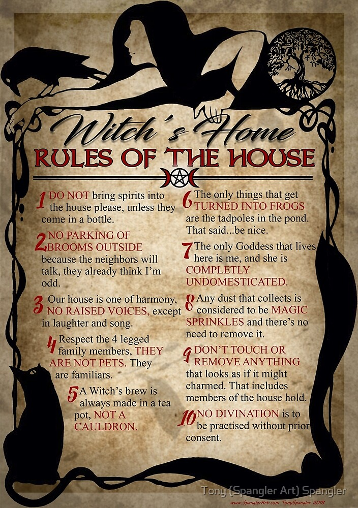 Witch's House Rules by Tony Spangler