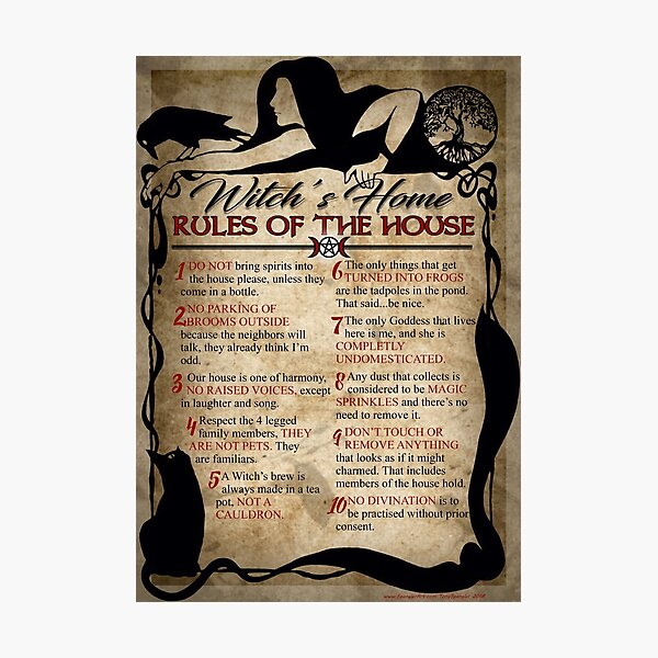 Witch's House Rules Photographic Print