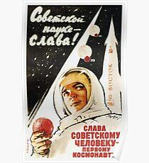 Lang lebe der sowjetische Mann - der erste Kosmonaut Poster