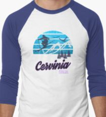 Cervinia Valle d'Aosta Italy Italia Ski Resort Snowboarding Winter Skiing Wear T-Shirts Hoodies Sweaters and Jumpers Men's Baseball ¾ T-Shirt