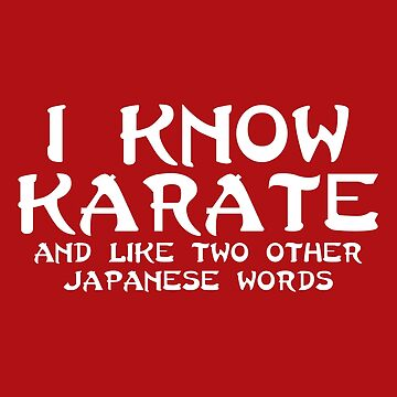 I Know Karate Funny Quote  by quarantine81