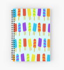 Ice Pop Pattern Frezzer Lolly Paleta Icy Pole Spiral Notebook