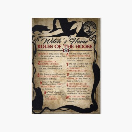 Witch's House Rules Art Board Print