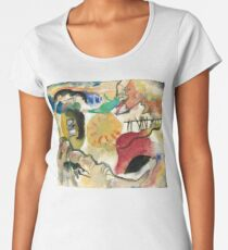 Kandinsky Inspired Fine Art Gifts | Garden of Love II Women's Premium T-Shirt