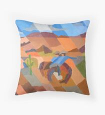 Bronco Rider #2 Throw Pillow