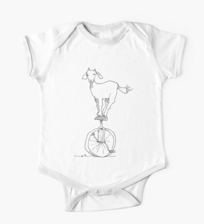 Goat on a unicycle Kids Clothes