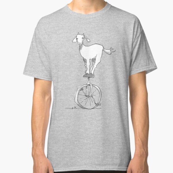 Goat on a unicycle Classic T-Shirt