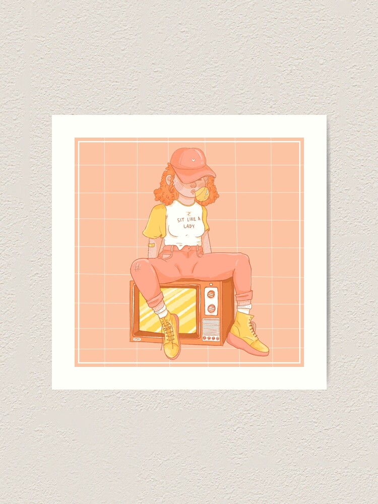 Alternate view of Sit Like A Lady Art Print