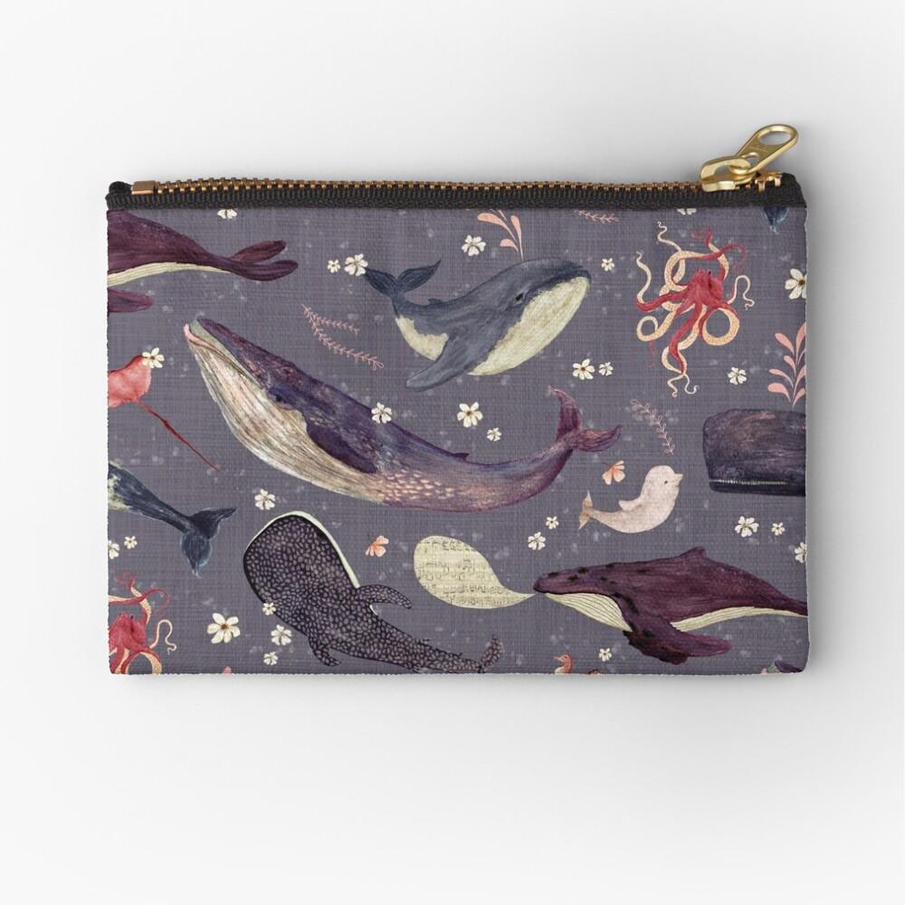 Whale's song lavender Zipper Pouch