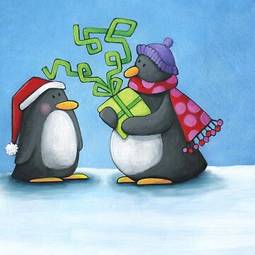 Christmas penguins by laureH