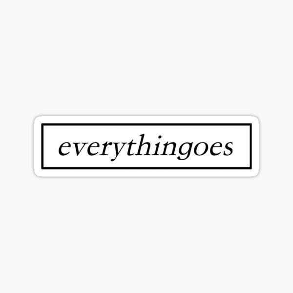 RM MONO EVERYTHINGOES Sticker