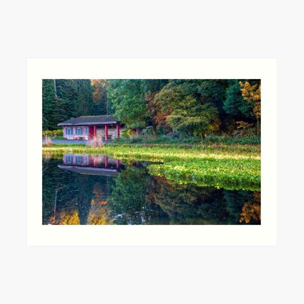 Curling Pond Colours Art Print