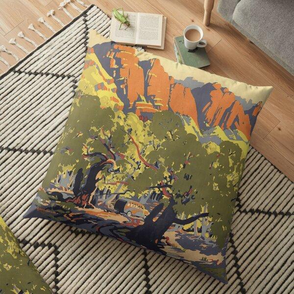 Flinders Ranges, South Australia's winter sunland, circa 1935 Floor Pillow