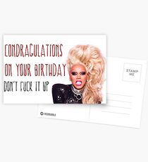 RuPaul, Condragulations, congratulations card, meme greeting cards Postcards