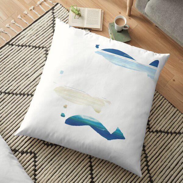 Expressive Fishes Floor Pillow