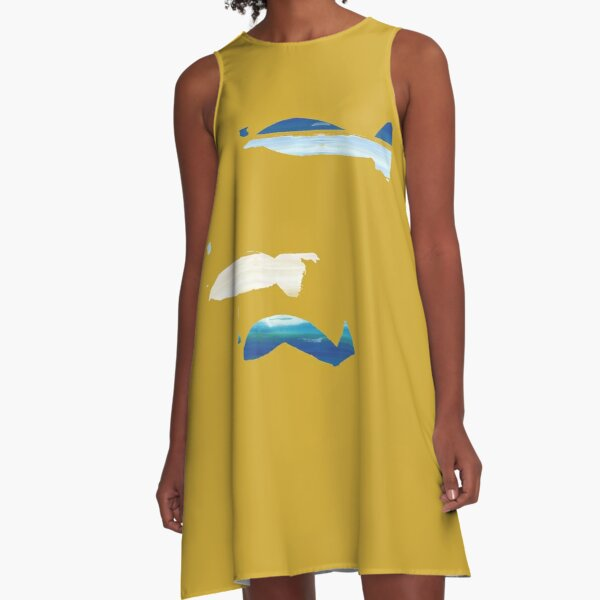 Expressive Fishes A-Line Dress