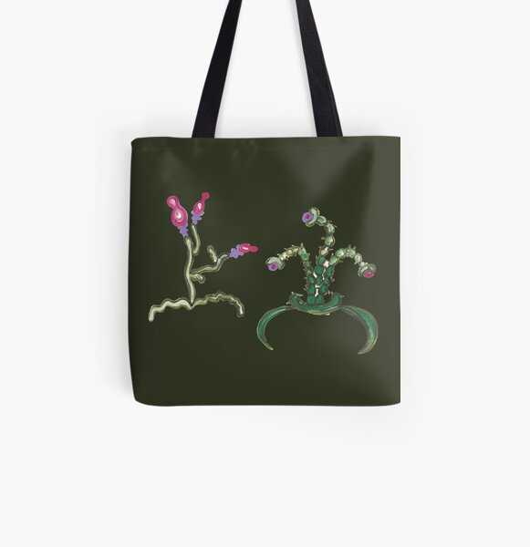 Ugly But Happy Plants All Over Print Tote Bag