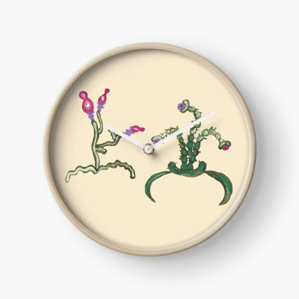 Ugly But Happy Plants Clock