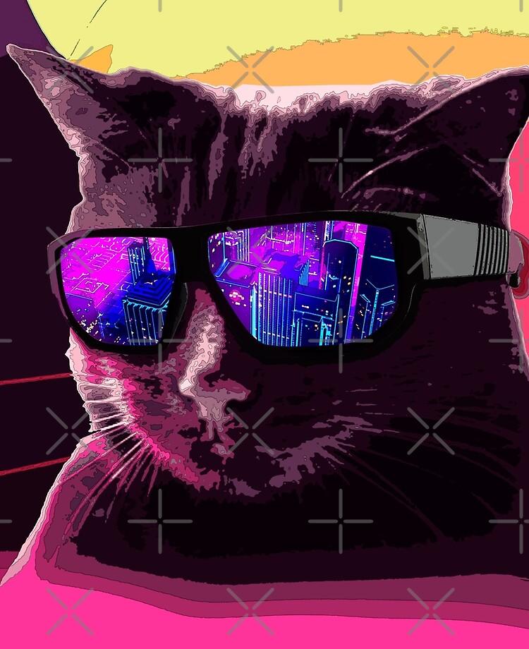 "Retrowave Cat"" iPad Case & Skin by AnciaoArt | Redbubble"