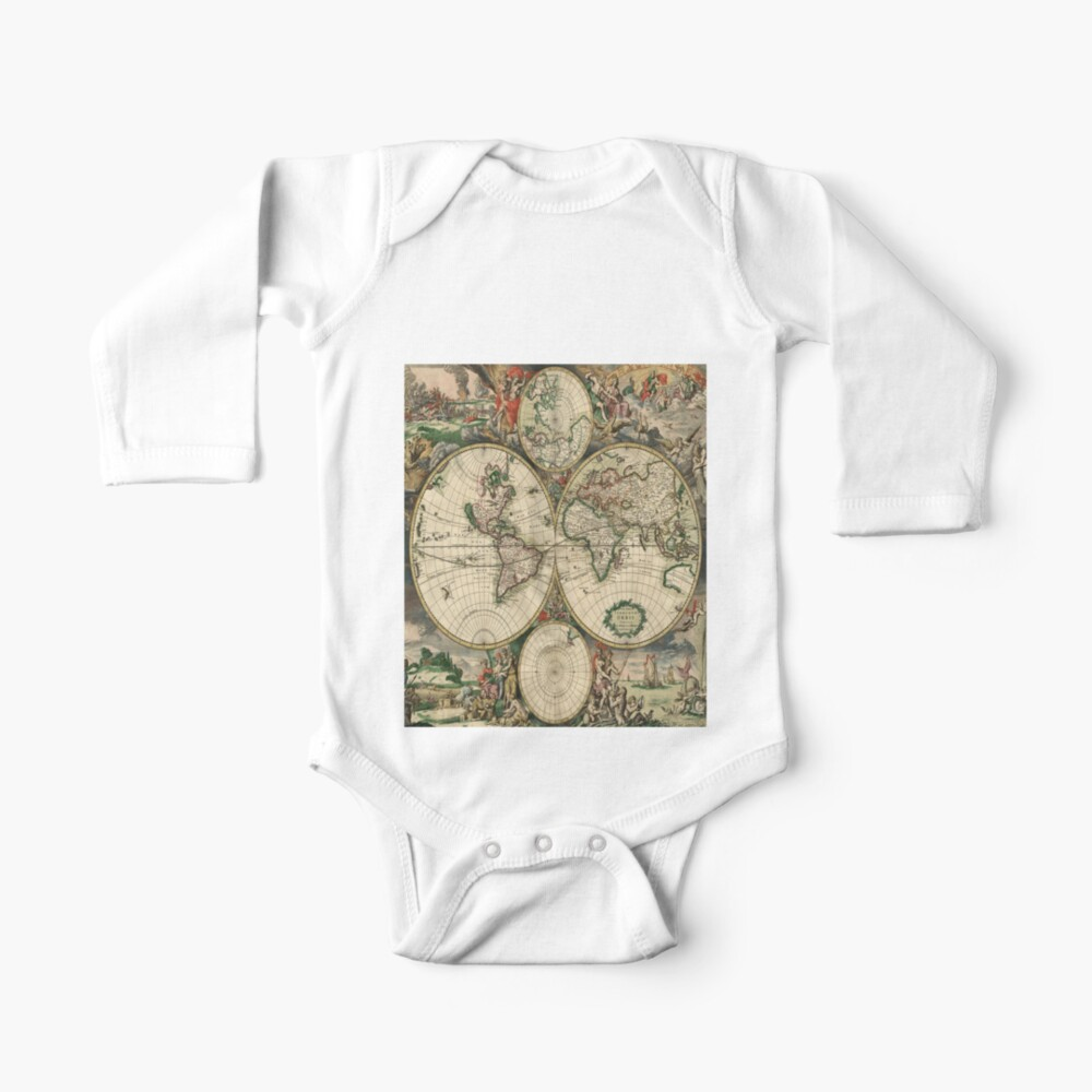 World Map 1689 by Gerard van Schagen Baby One-Piece