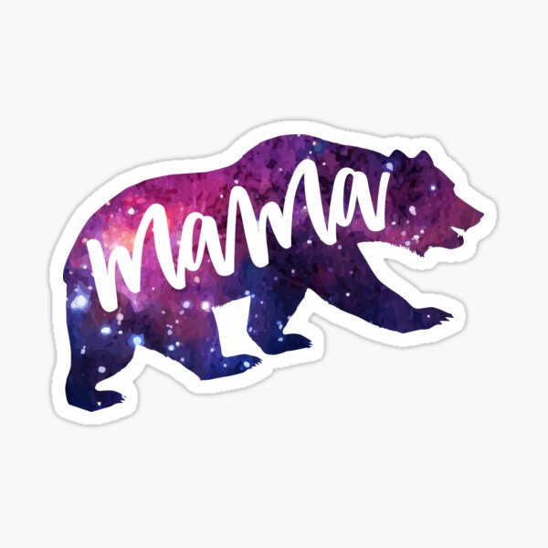 Magical Galaxy Mama Bear Sticker