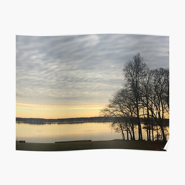 """Winter Sunset"" Poster"