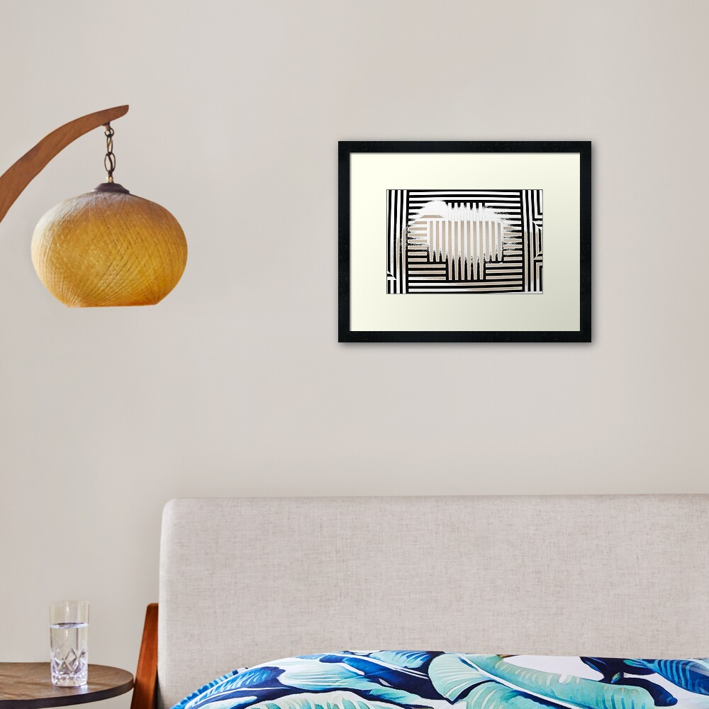 #SolLeWitt #WallDrawing370 #WallDrawing #Wall #Drawing #design #pattern #abstract #decoration #art #horizontal #colorimage #wide #inarow #textured #nopeople #retrostyle #wideshot #wideangle Framed Art Print