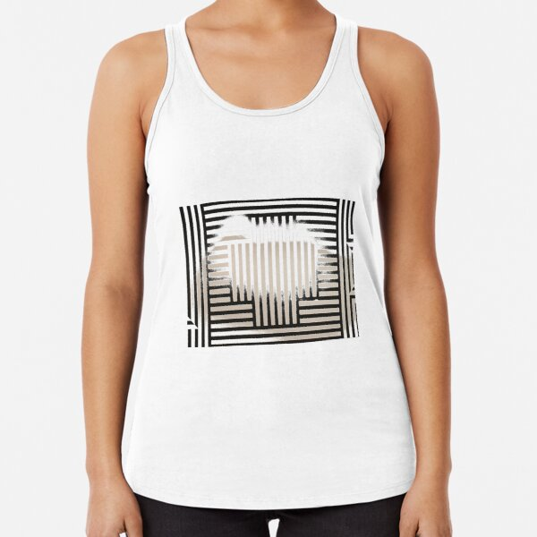 #SolLeWitt #WallDrawing370 #WallDrawing #Wall #Drawing #design #pattern #abstract #decoration #art #horizontal #colorimage #wide #inarow #textured #nopeople #retrostyle #wideshot #wideangle Racerback Tank Top