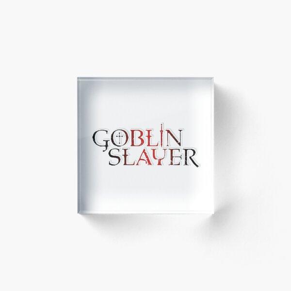 Goblin Slayer Anime Logo 2018 Acrylic Block