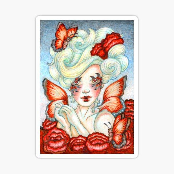 Butterfly Fairy Art titled Bloom by Stephanie Ann Garcia Sticker