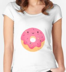 Happy donut Fitted Scoop T-Shirt