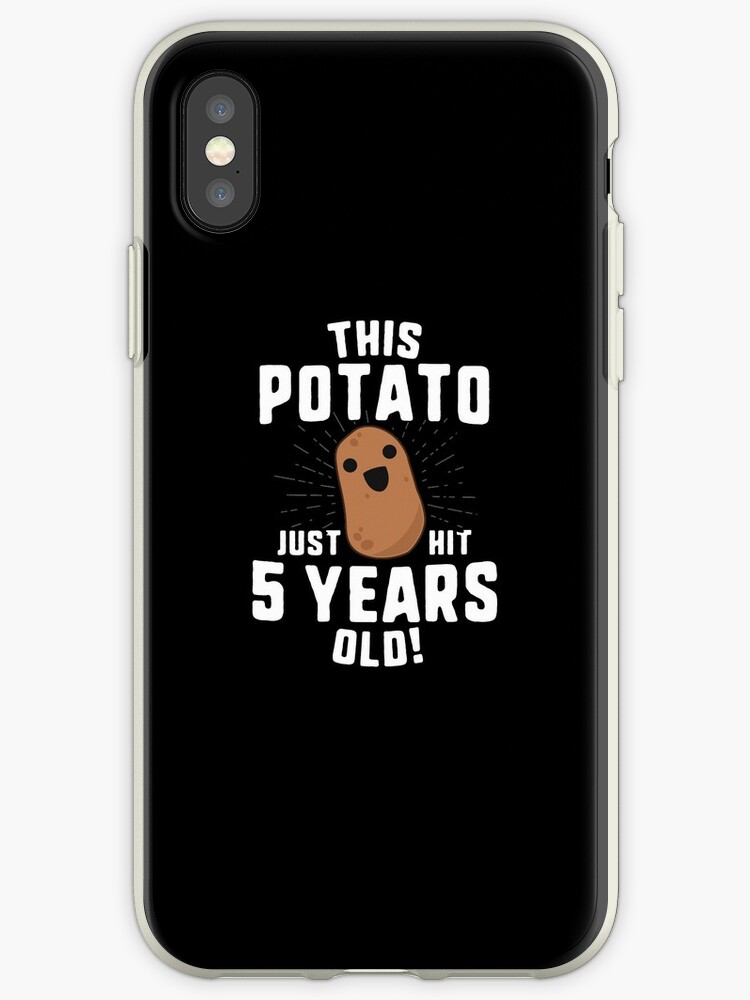 This Potato Just Hit 5 Years Old T Shirt Birthday Boy Girl By 14th Floor