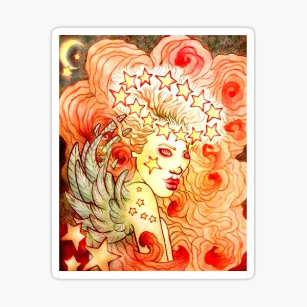 Glamorous Star Angel image titled: Glow created by Stephanie Ann Garcia Sticker