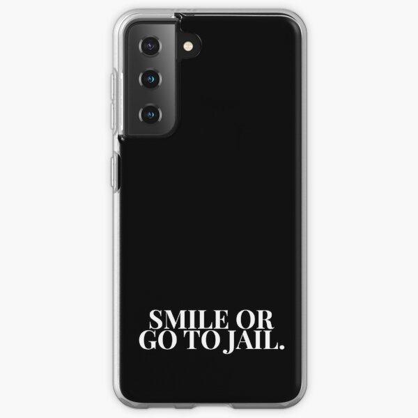 Souriez ou allez en prison HTGAWM (noir) Coque souple Samsung Galaxy