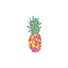 Girly Pink Geometric Triangles Pineapple by Blkstrawberry