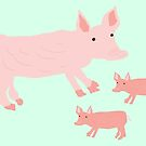 Pigs on the Farm by southerlydesign