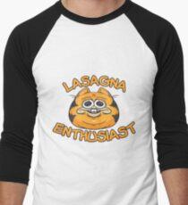 Camiseta ¾ bicolor para hombre Entusiasta de lasaña