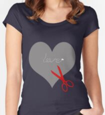 Save your scissors... Women's Fitted Scoop T-Shirt