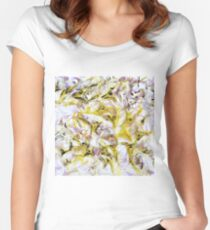 Neurology acrylic painting on panel Women's Fitted Scoop T-Shirt