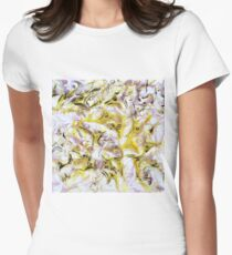 Neurology acrylic painting on panel Women's Fitted T-Shirt